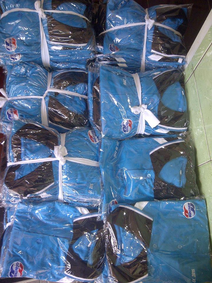 kaos seragam kerja siap kirim