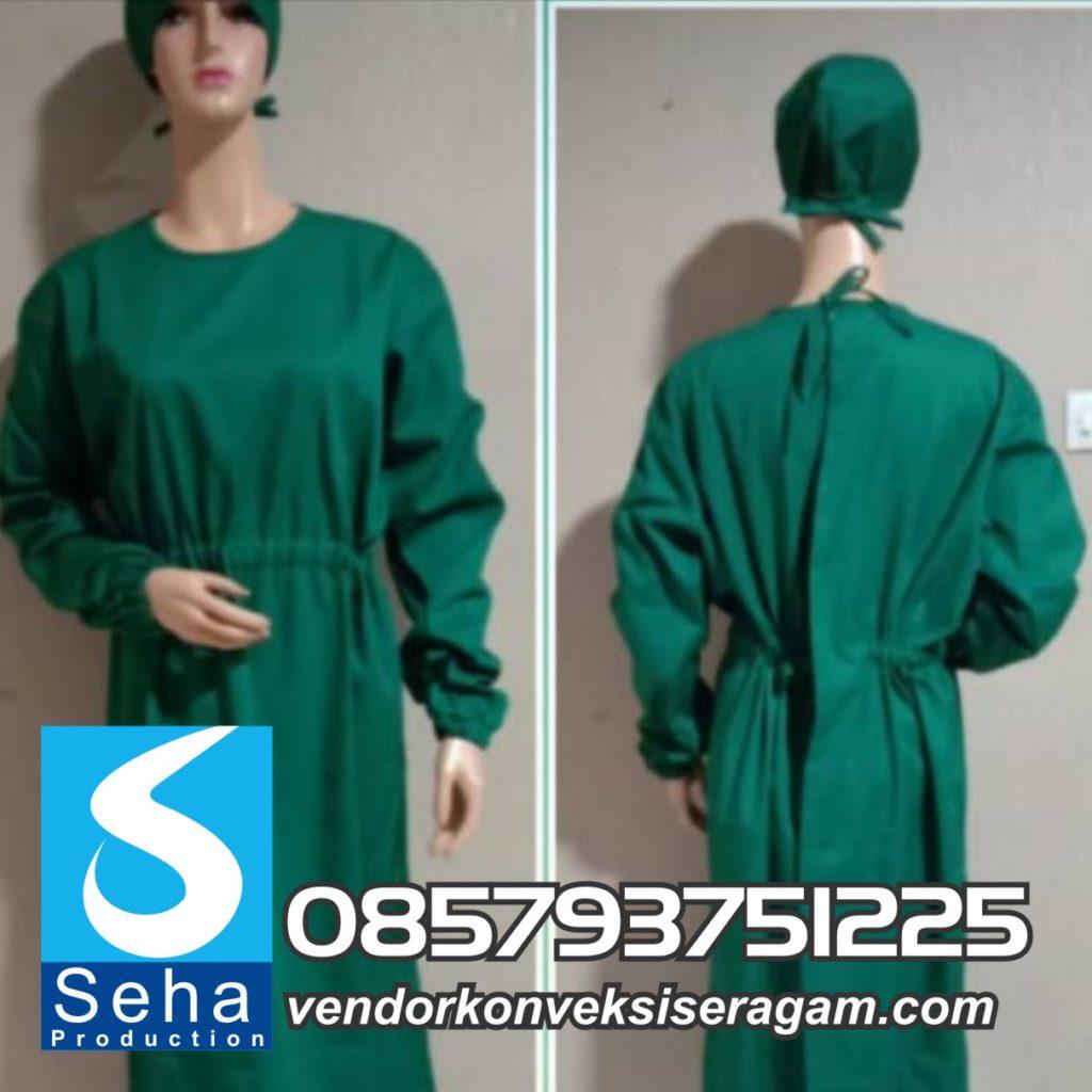 gown apd medis, gown apd parasut, gown apd covid, gown apd bahan taslan, gown apd waterproof